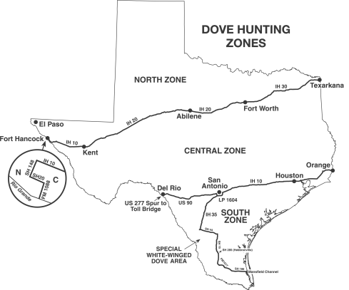 Texas Dove Hunting Season and Zones